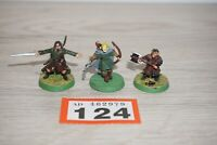LOT 124 - Warhammer LOTR - Lord of The Rings Aragorn Legolas & Gimli x 3 Metal