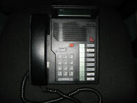 Northern Telecom Meridian Business Phone Set NT9K08AC03 Charcoal USED Qty 1