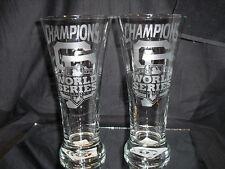 2012 WORLD SERIES CHAMPION SAN FRANCISCO GIANTS ETCHED 20 ozPILSNER LOGO GLASSES