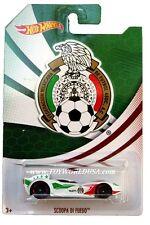 2014 Hot Wheels Team Mexico Edition National Soccer Teams Scoopa Di Fuego