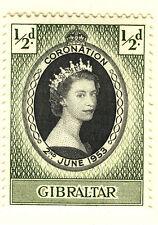 Gibilterra 1953 Incoronazione MNH