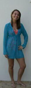 Ladies Kaftan Dress Summer Dress Blue Black Pink Brown 1234