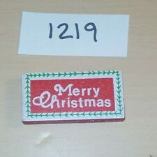 Ho / O Scale Merry Christmas Wooden Decoration Sign for Building Layout B1219