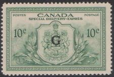 (CAB-167) 1946 Canada 10c special delivery O/P G stamp (FQ)