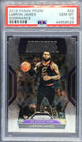 LeBron James 2018-19 Panini Dominance Prizm #29 Lakers NBA PSA 10 Gem Mint Cavs