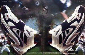 "1998 Tennessee Titans Eddie George photo Adidas ""Feet You Wear"" 2-page print ad"