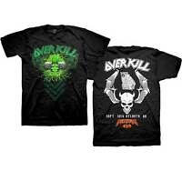 OVERKILL - Two Electric Skulls - T SHIRT S-M-L-XL-2XL New Official