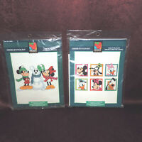 Set of 2 NEW Mickey Unlimited Cross Stitch Kits Snow Mouse, Color Blocks