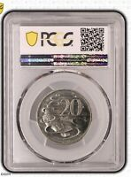 1981 Australian Decimal 20 Cent 3 1/2 Claw Variety PCGS Grade Uncirculated MS64