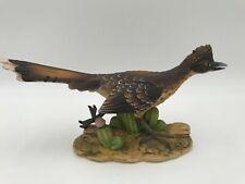 """Roadrunner Statue, Andrea By Sadek, Roadrunner Porcelain Figurine Texas Bird 10"""""""