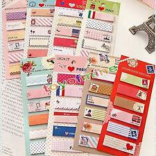 Bloc Post Note Autocollant Marque Page Memo Livre Signet Papier Sticky Mignon