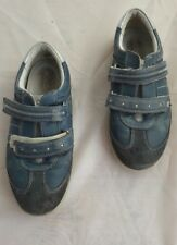 Ecco n. 33 Scarpe Basse Sneaker Velcro Blu per bambini super confortevoli