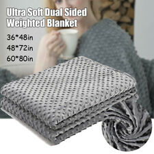 4Sizes Heavy Cool Weighted Blanket Cover Queen Size Promote Deep Sleep Bed  US