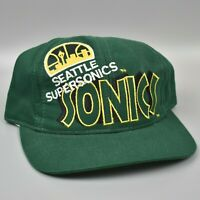 Seattle Supersonics Sonics NBA Vintage 90's The Game Adjustable Snapback Cap Hat