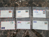 Lot of 6 Covers Postal History Papua New Guinea
