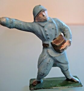 Toy Old Lead Hollow J. F. Paris France Soldier 14/18 Grenadier 1930