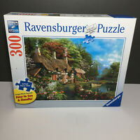 Beautiful Ravensburger Puzzle Cottage on a Lake 300 Large Format Piece Puzzle