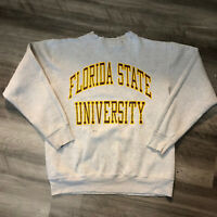 Vintage Distressed Florida State University Sweatshirt Womens Size Large