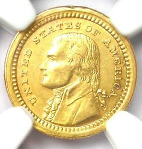 1903 Jefferson Commemorative Gold Dollar Coin G$1 - Certified NGC AU Detail