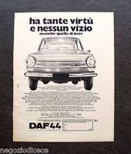 O858 - Advertising Pubblicità -1971- DAF 44 , AUTOMATIC-VARIOMATIC