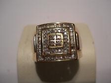 Estate Men's Diamond Ring 10k Yellow Gold 417 10kt Not Scrap Jewelry 6.5 gr A9
