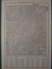 1926 MAP ~ Giappone Tokio Tokyo Bay isole curili formosa Nagasaki honshiu