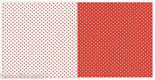Cotone a pois arancione bianchi stoffa cucito creativo cotone 100% cm 50 x 150