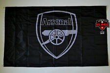 Arsenal Flag Banner 3x5 ft England Soccer Football Black