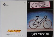 'The Raleigh Collection'  'Stratos 10' Original Bicycle Shop Display Tag c1980