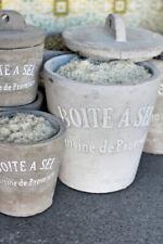 French Concrete Spice Salt Cellar / Jar - Boite A Sel, Cement Provence Herbs Jar