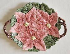 Fitz & Floyd Omnibus Poinsettia Platter Large Tray