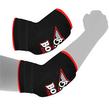BOOM Elbow Pads Support Arm Guards MMA Kick Boxing Martial Arts Injury Pain