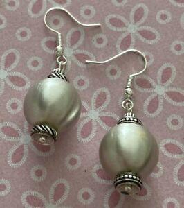Brighton VERSAILLES L'ORANGERIE Large Pearl Custom Silver Earrings