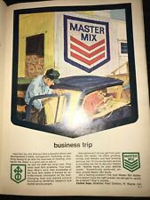 1964 Master Mix Feed Ad Sign Vintage Antique Farm Agriculture