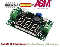 LM2596 DC-DC Adjustable Step-Down Power Module + LED Voltmeter