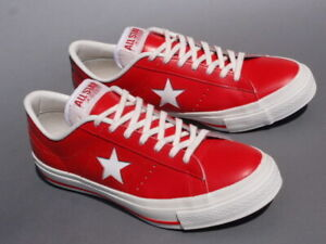 Converse One Star J Red Leather Made in Japan Sneakers Men Us9