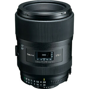 Tokina atx-i 100mm f/2.8 FF Macro Lens for Nikon F no extra cost in stock