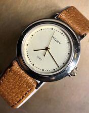 Poljot Quartz Vintage Soviet russian watch men's gold plated, Mint Condition