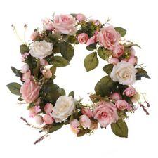 Artificial Wreaths Peony Flower Garlands Handmade Home Front Door Wedding Decors