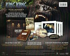 PETER JACKSON'S KING KONG 2005 PRODUCTION DIARIES 2 DVD SET LIKE NEW NOT VIEWED