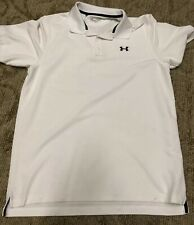 Under Armour Short Sleeve White Polo Shirt Mens Extra Large Xl