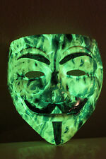 GLOW N DARK Anonymous CUSTOM V VENDETTA MASK Guy Fawkes protest hack Masks