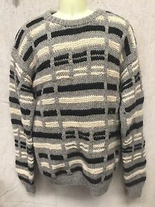 Large Thick VINTAGE BOYDEX Hand Knitted Woolen JUMPER Retro WARM WOOL Cable Knit