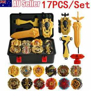 12PCS Beyblade Gold Burst Set Spinning With Grip Launcher+Portable Box Kids Gift