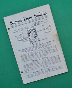Original 1915 - 1917 Harley Service Manual Dept Bulletin 11F 11J 16J 16F 17F 17J