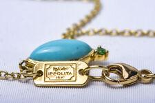 IPPOLITA Turquoise Prisma Angled Marquis Stone Necklace 18k Gold