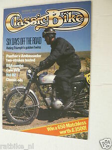CLASSIC BIKE 1988-11,ISDT MZ,TRIUMPH SIX-DAYS,ARIEL VB,AMBASSADOR,PANTHER,BSA,