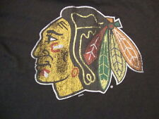 NHL Chicago Blackhawks Hockey Retro Brand Sportswear Fan Black T Shirt Size M