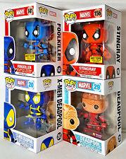 FUNKO POP DEADPOOL X-Men DEADPOOL Unmasked FOOLKILLER & STINGRAY Exclusives