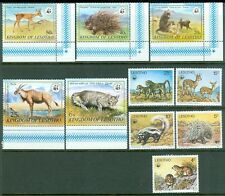 LESOTHO : 1977-82. Scott #228-32, 351-55 WWF Animals. 2 Complete sets. VF MNH